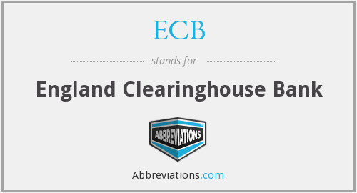 ECB - England Clearinghouse Bank