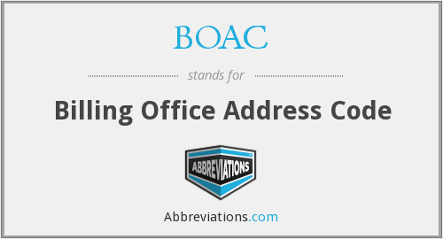 BOAC - Billing Office Address Code