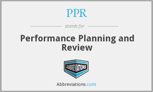 PPR - Performance Planning and Review