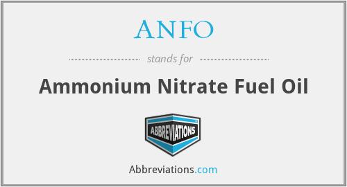 ANFO - Ammonium Nitrate Fuel Oil