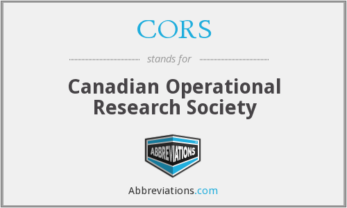 CORS - Canadian Operational Research Society