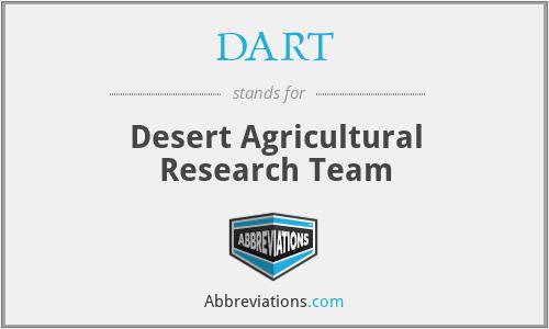 DART - Desert Agricultural Research Team