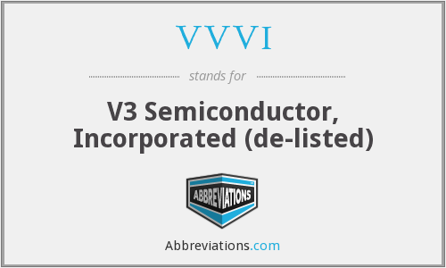 VVVI - V3 Semiconductor, Inc.