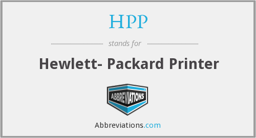 HPP - Hewlett- Packard Printer