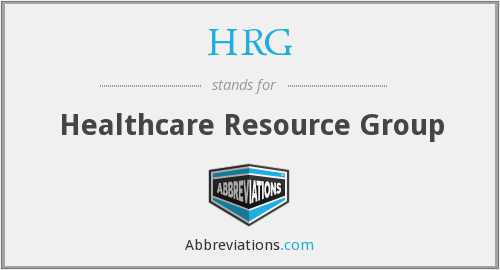 HRG - Healthcare Resource Group