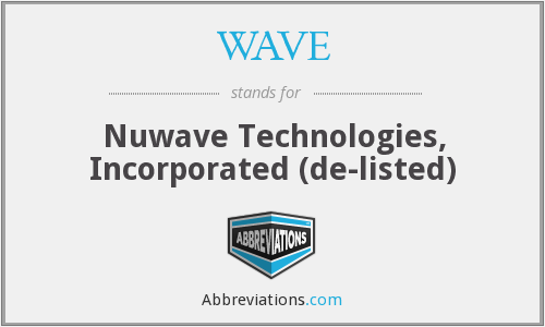 WAVE - Nuwave Technologies, Incorporated (de-listed)