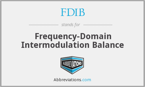 What does FDIB stand for?