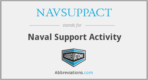 What does NAVSUPPACT stand for?