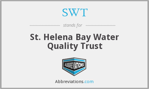 SWT - St. Helena Bay Water Quality Trust