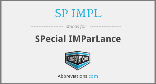 What does SP IMPL stand for?