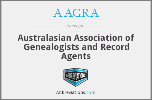 AAGRA - Australasian Association of Genealogists and Record Agents