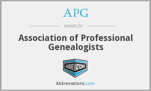APG - Association of Professional Genealogists