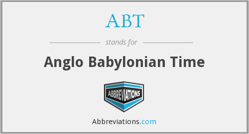 ABT - Anglo Babylonian Time