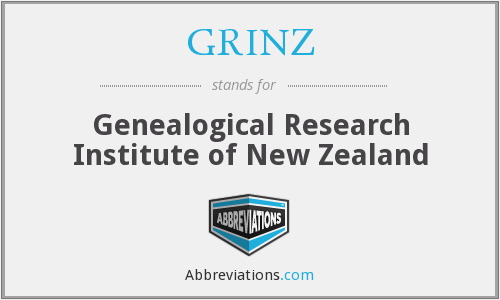 GRINZ - Genealogical Research Institute of New Zealand