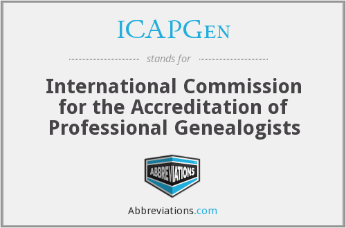 ICAPGen - International Commission for the Accreditation of Professional Genealogists