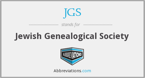JGS - Jewish Genealogical Society
