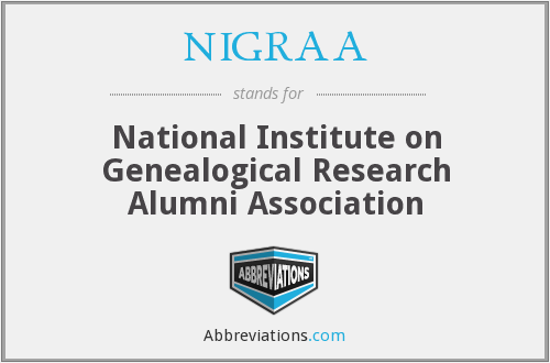 NIGRAA - National Institute on Genealogical Research Alumni Association