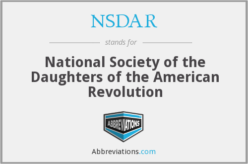 What does NSDAR stand for?