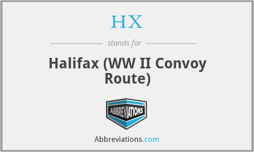 HX - Halifax (WW II Convoy Route)