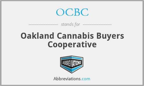 OCBC - Oakland Cannabis Buyers Cooperative