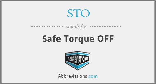 STO - Safe Torque OFF