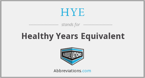 HYE - Healthy Years Equivalent