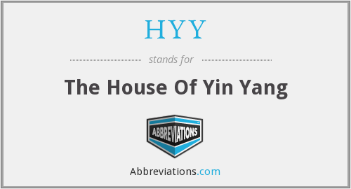 HYY - The House Of Yin Yang