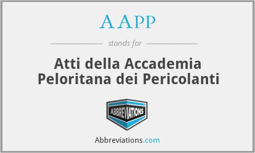 AAPP - Atti della Accademia Peloritana dei Pericolanti