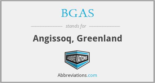 BGAS - Angissoq, Greenland