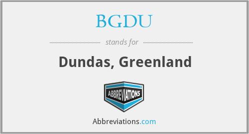 BGDU - Dundas, Greenland