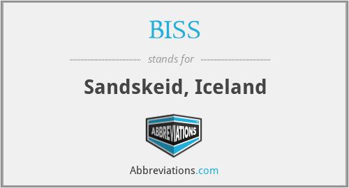 BISS - Sandskeid, Iceland