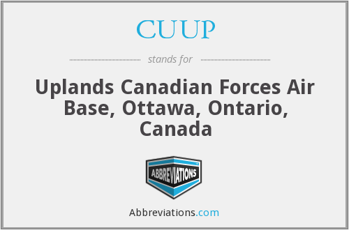 CUUP - Uplands Canadian Forces Air Base, Ottawa, Ontario, Canada