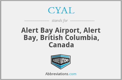 CYAL - Alert Bay Airport, Canada