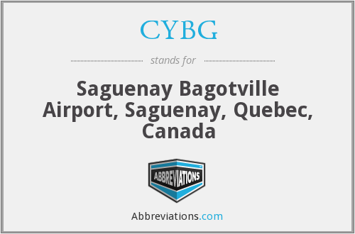 CYBG - Bagotville Airport, Canada