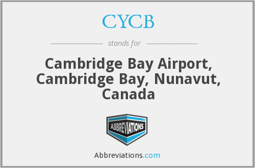 CYCB - Cambridge Bay Airport, Canada