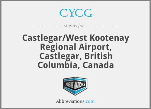 CYCG - Castlegar/West Kootenay Regional Airport, Castlegar, British Columbia, Canada