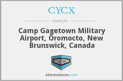 CYCX - Camp GagetownMilitary Airport, Canada
