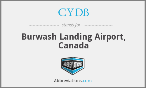 CYDB - Burwash Landing Airport, Canada
