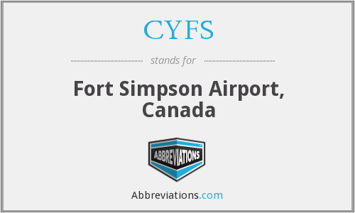 CYFS - Fort Simpson Airport, Canada
