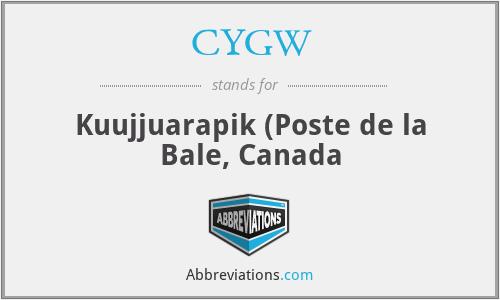 CYGW - Kuujjuarapik (Poste de la Bale, Canada