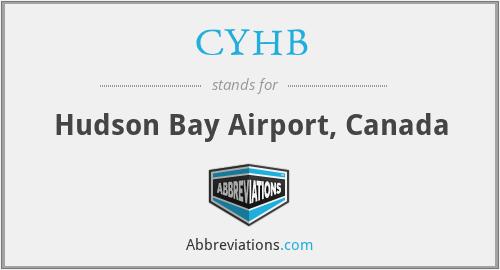 CYHB - Hudson Bay Airport, Canada