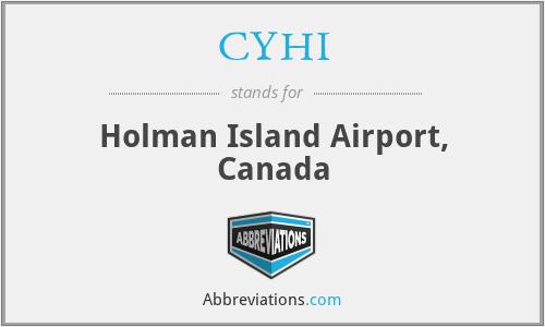 CYHI - Holman Island Airport, Canada