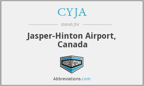 CYJA - Jasper-Hinton Airport, Canada