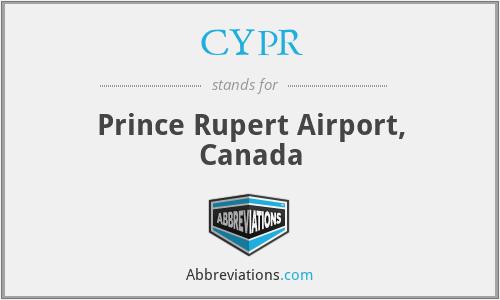 CYPR - Prince Rupert Airport, Canada