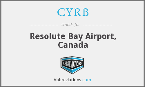 CYRB - Resolute Bay Airport, Canada
