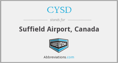 CYSD - Suffield Airport, Canada
