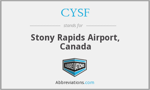 CYSF - Stony Rapids Airport, Canada