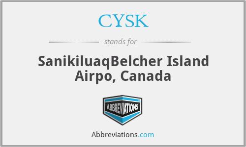 CYSK - SanikiluaqBelcher Island Airpo, Canada