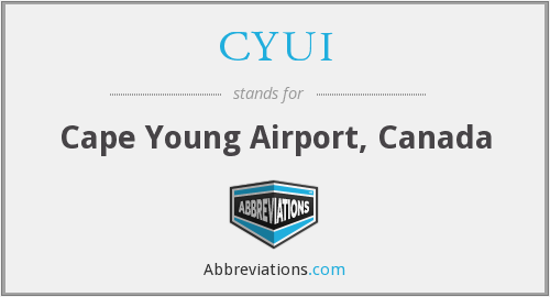 CYUI - Cape Young Airport, Canada