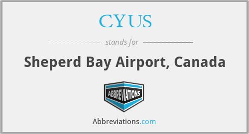 CYUS - Sheperd Bay Airport, Canada